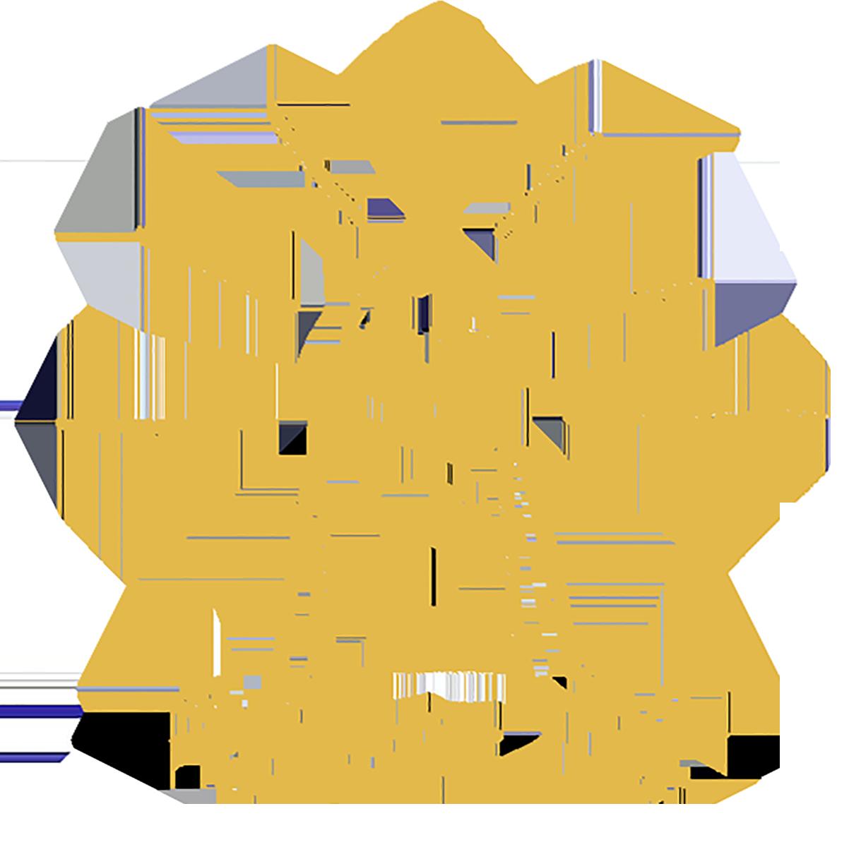 Tekening ter illustratie van de mentale voordelen van Yoga.